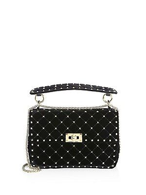92eacf2e92 Valentino Garavani Velvet Rockstud Spike Top Handle Bag | Fashion in ...