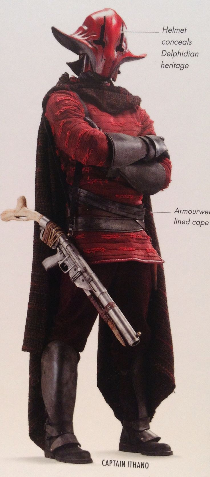 Captain Sidon Ithano, also known as The Crimson Corsair, was a pirate and a patron at Maz Kanata's castle.