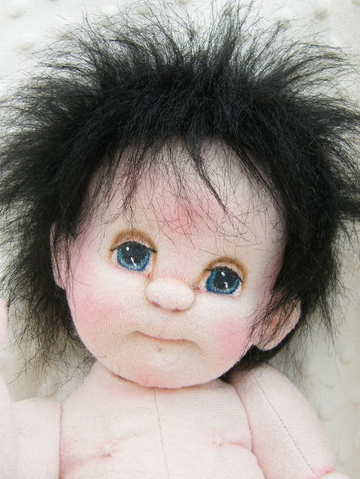 Soft Sculpture Baby Doll Sampson Baby Boy Jointed Craft