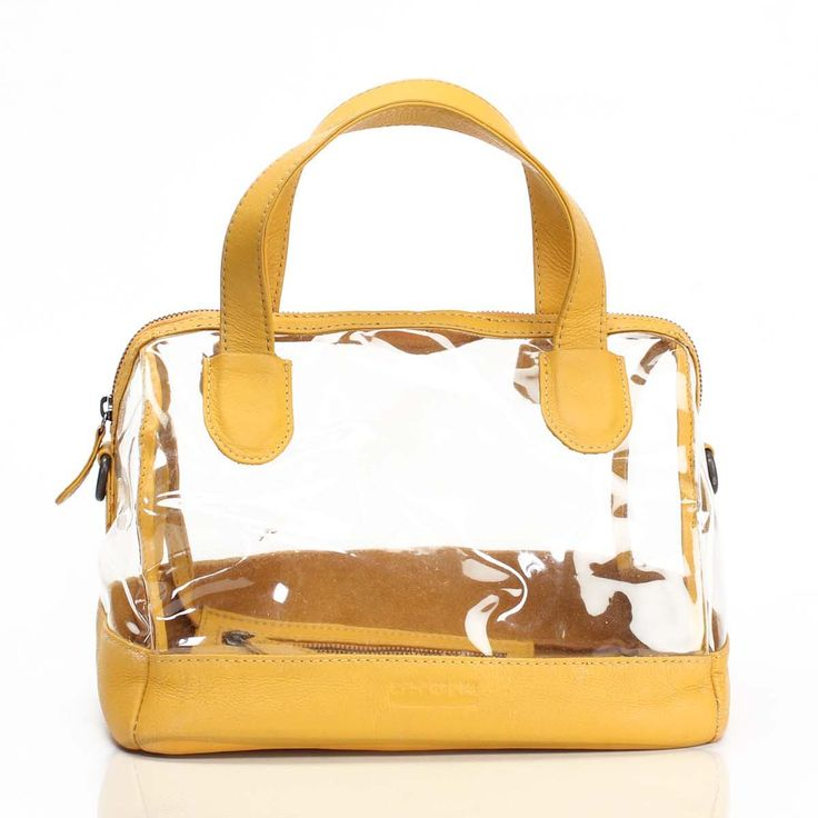 Buy online #yellow colored ladies leather #satchel #bag at voganow.com for Rs.4,000/-
