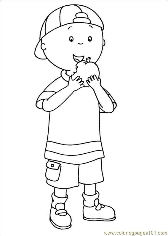 caillou coloring sheet - Caillou Gilbert Coloring Pages
