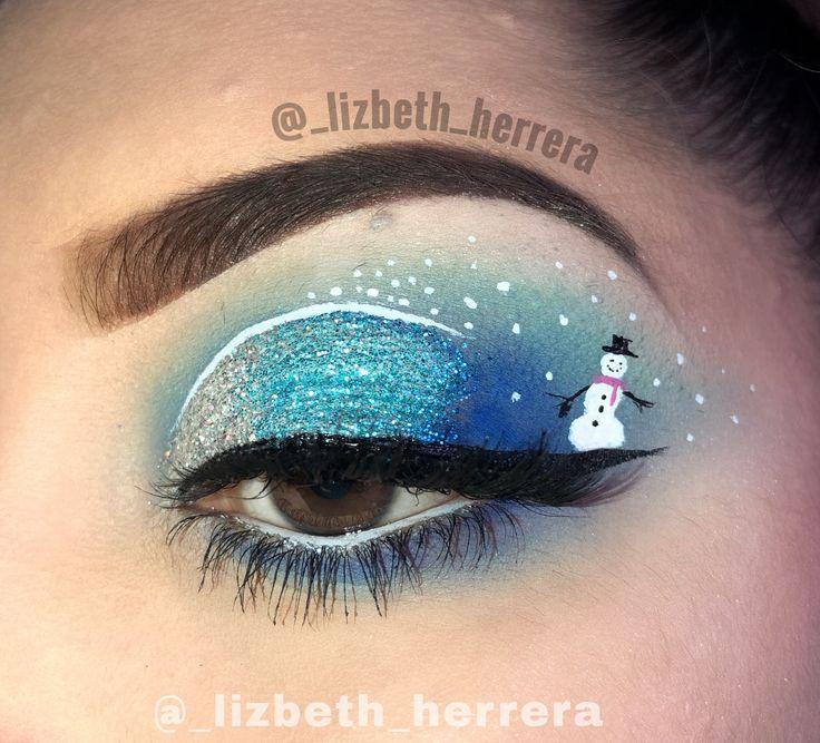 Snowman makeup ☃️ Instagram @_lizbeth_herrera