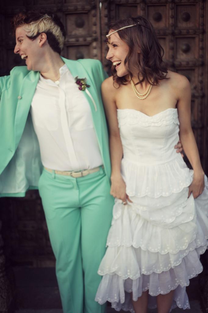 Mint wedding suit!