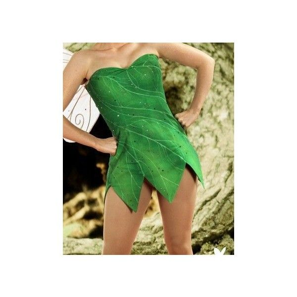 tinkerbell costume/cosplay Halloween ❤ liked on Polyvore featuring costumes, disney, dresses, fairies, green, icons, cosplay costumes, green costumes, green fairy costume and green halloween costumes