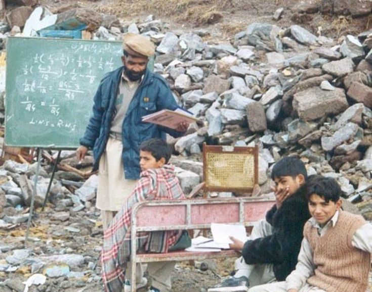 October 23, 2005 - With the Kashmir earthquake many primary schools were destroyed and many children perished in the collapsed stone buildings.