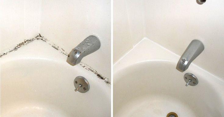 Удалить плесень, очистить плитку и стены в ванной, убрать черный налет — всё это возможно  Смешай уксус и стиральный порошок в равных пропорциях и нанеси на проблемные места. Оставь смесь на 10 минут, а затем потри щеткой. Результат будет заметен сразу!