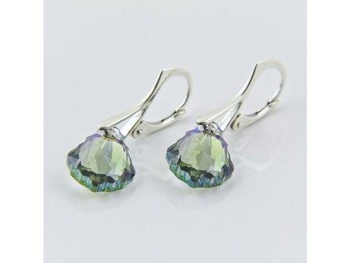KOLCZYKI SWAROVSKI BAROQUE 16MM BLACK DIAMOND SREBRO 925 - KL2108 Materiał: Srebro 925 + kryształ Swarovski Elements  Kolor :Black Diamond Rozmiar kamienia: 1,6cm Wysokość kolczyka: 3cm Waga srebra: 1,33g ( 1 para ) Waga kolczyków z kamieniami: 3g