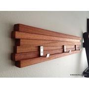 Modern wooden key holder/coat rack.