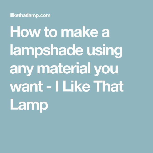 Diy drum lampshades