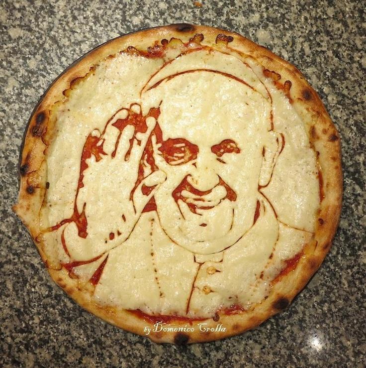 Italianen toch! Hoe dan ook een prachtig kunstwerkje om op te eten