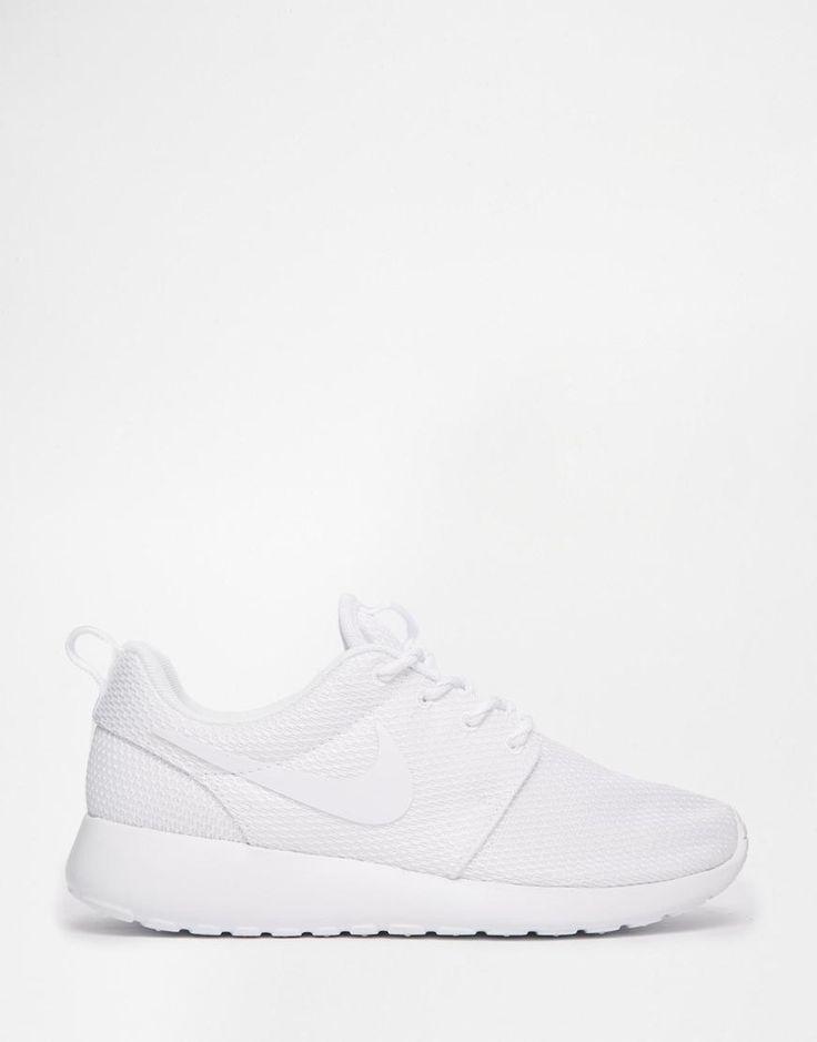 Nike   Nike Roshe Run White Trainers at ASOS