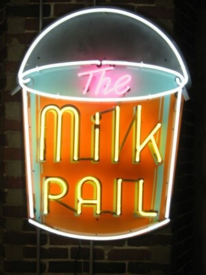 Update of classic vintage milk pail sign #2: 00eaed1bcc923e030d29a53a54e060a8