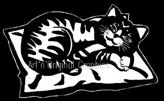 #cat on a cushion - clair-obscur