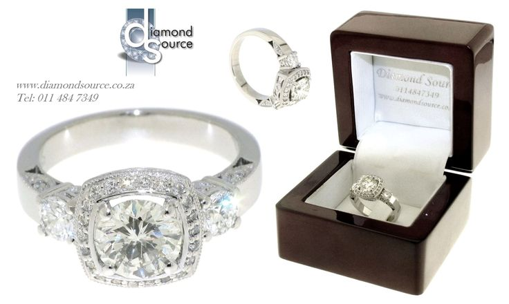 Viola Design -  This is one of our most recent commissions featuring a Viola engagement ring design. This beautiful detailed design we crafted from Platinum set with a 1.00ct. Round Brilliant-cut centre diamond. Please email or call us with any queries. FREE QUOTATIONS on any jewellery design you require. E: info@diamondsource.co.za W: www.diamondsource.co.za T: 011 484 7349