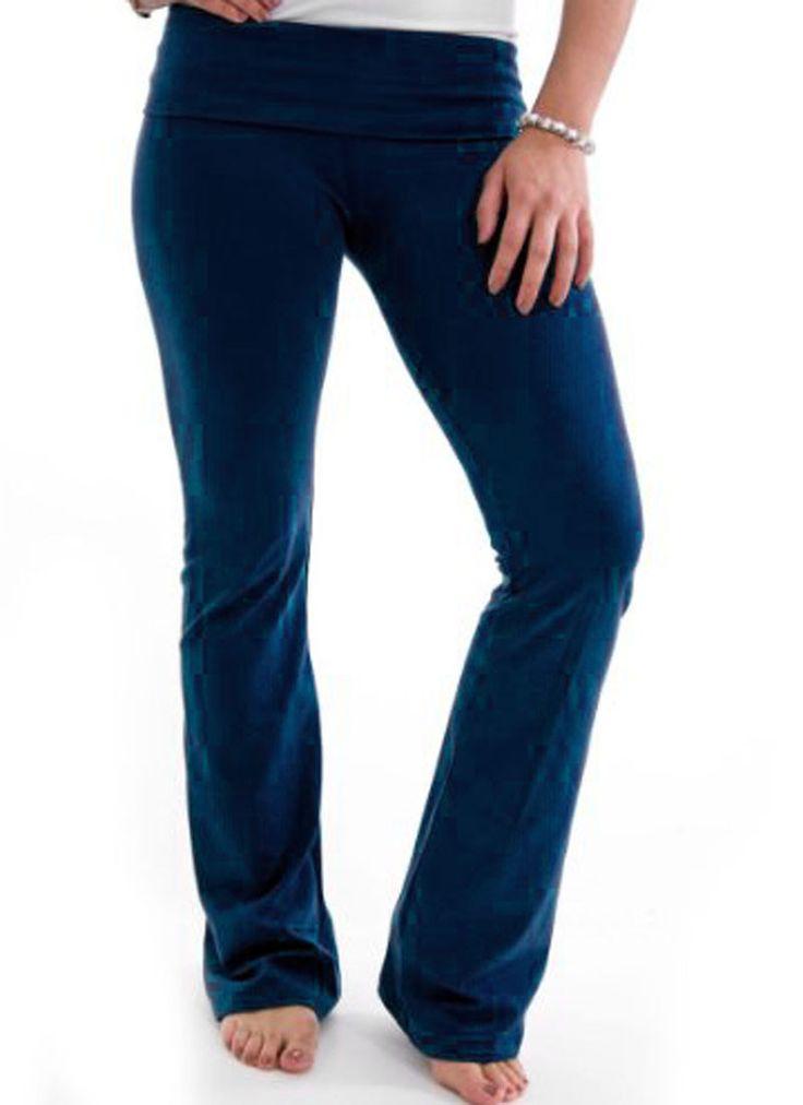 Fold-Over Yoga Pants
