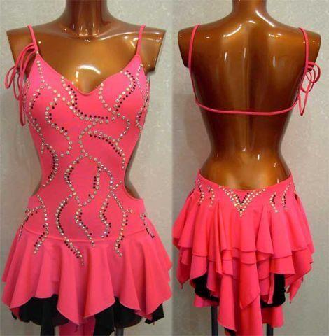 Платье на основе одного купальника для стандарта и латины