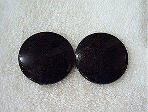 Korálky - Placka MILK plast 30mm-čierna-1ks - 2007512