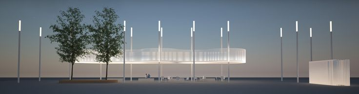 Design of new Howe Street bus shelter and wet weather shelter at the new Vancouver Art Gallery North Plaza.