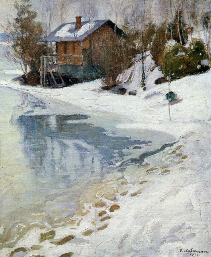 Pekka Halonen, Kevättalvi (Late Winter), 1909, The Life and Art of Pekka Halonen - http://www.alternativefinland.com/art-pekka-halonen/