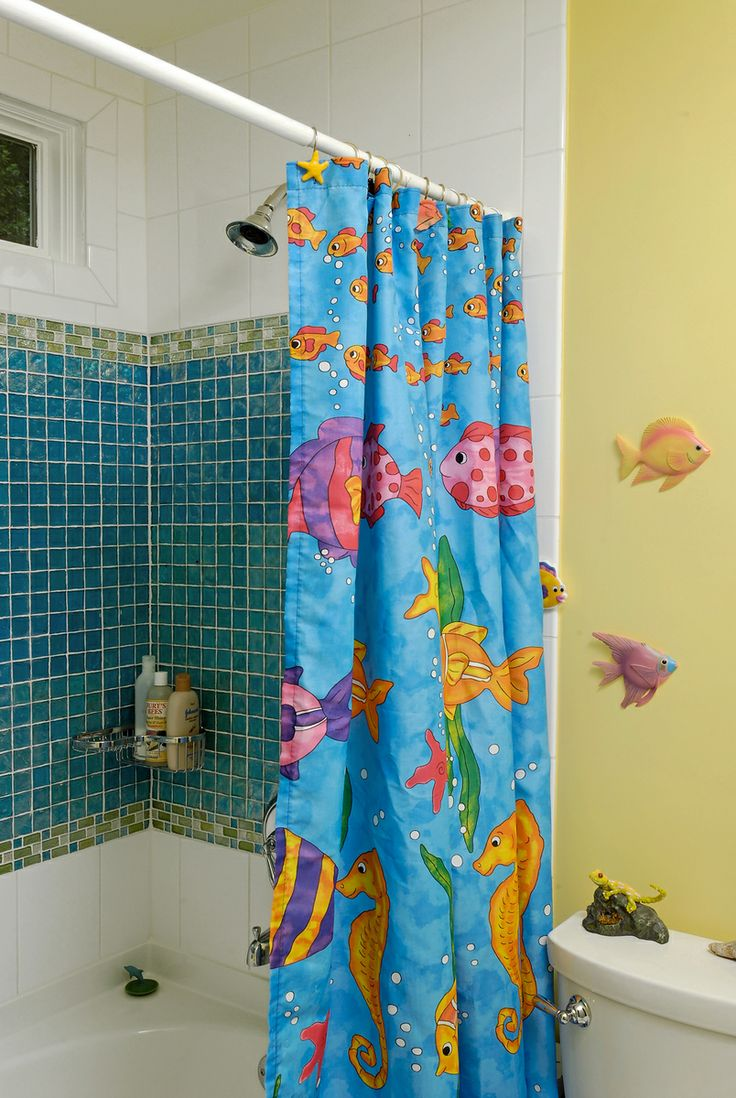 Fish tiles bathroom - Bathroom Remodels Daniels Design And Remodeling Kids Bathroom Fish Theme Toilet