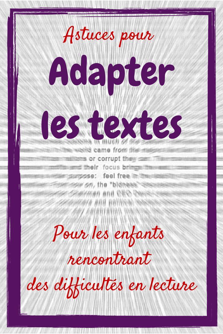 Astuces pour adapter les supports écrits pour les élèves rencontrant des difficultés en lecture - Maîtresseuh
