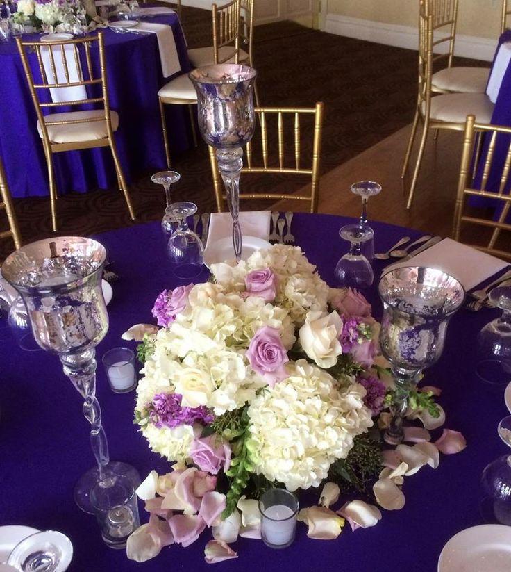 Wedding Flowers Long Island Long Island NY Caterers Centerpieces Flowers Beautiful Purple Wedding