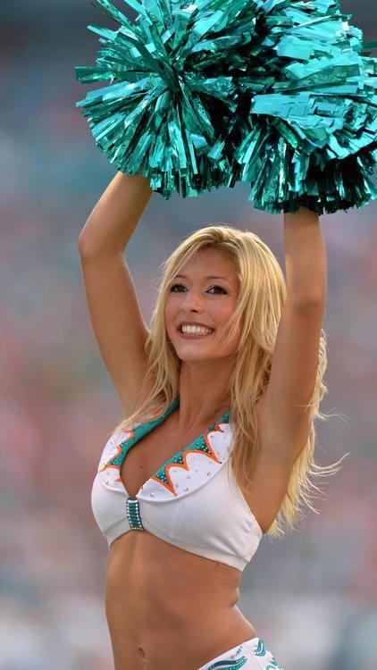 Dolfhin cheerleader pose nude