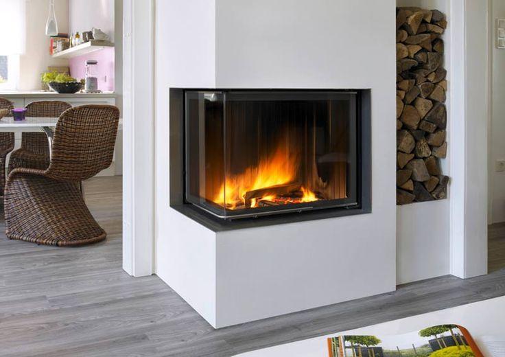 Waterbearing corner fireplaces
