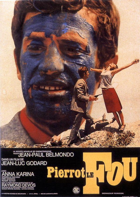 Pierrot le fou est un film franco-italien réalisé par Jean-Luc Godard, sorti en 1965. Ferdinand Griffon est un homme qui vit avec sa femme et ses enfants. Il est un peu désabusé car il vient de perdre son emploi à la télévision. Un soir, alors qu'il revient d'une désolante soirée mondaine chez ses beaux-parents, il se rend compte que la baby-sitter qui est venue garder ses enfants est une ancienne amie, Marianne.