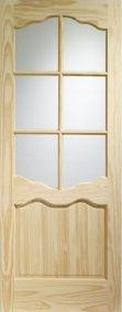 Pine Riviera Clear Glazed Internal Door