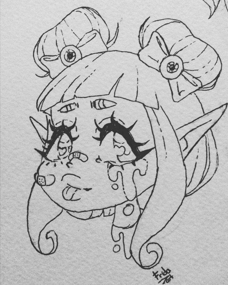 Cute, goth, drawing