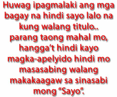 Tagalog Love Quotes | Tagalog Love Quotes Collection | Pick up lines | Sad Quotes - Part 5