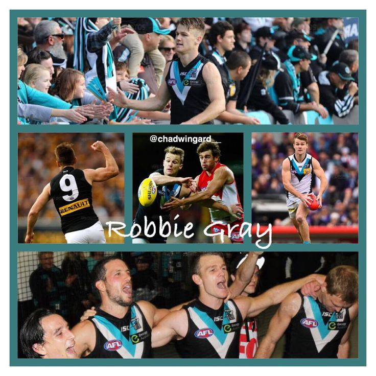 """""""Robbie Gray Collage Requested by: @bbell_girl Leave requests below #pafc #AFL #weareportadelaide"""""""