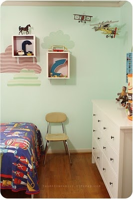 love the shadow boxes on the wall: Planes Rooms, Children Rooms, Boys Bedrooms, Boys Rooms, Baby Boys, Boys Stuff, Cs Rooms, De Kids, Kids Rooms