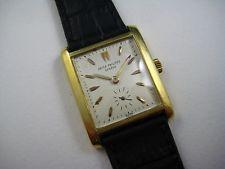 PATEK PHILLIPE RECTANGLE VINTAGE WRISTWATCH 18K YELLOW GOLD C.1955-60 BUY NOW!!