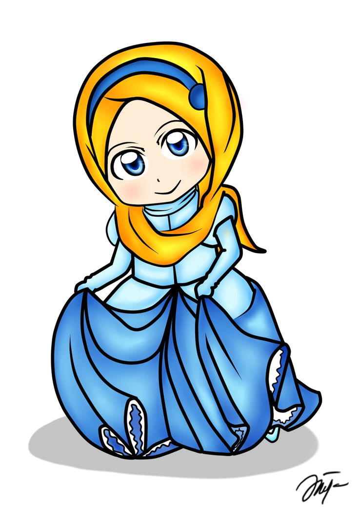 Diya Hanun: Chibi doodle Disney Princess Hijab Version Part 1