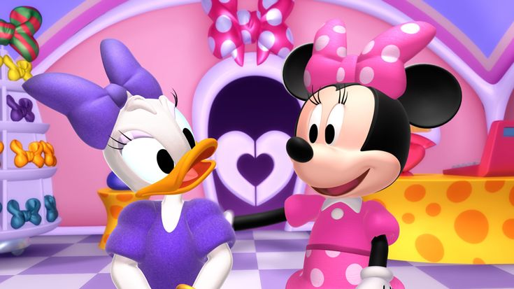 Minnie Mouse and Daisy Duck