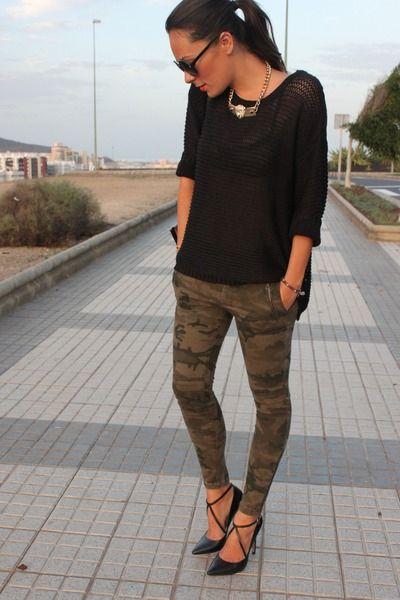 #camo skinnys with heels