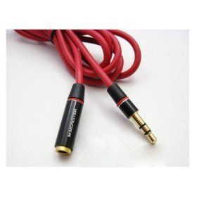 Monster Beats Headphones Extension Cable 3.5 Extension Cable by Monster. $9.99. Description: Brand: Moster Cable;   Monster types: Beats;   Wire category:extension cable;   Material: pure copper;   Line length: (including plug) cable length is 130 cm or so;   Line diameter: line 3 mm in diameter. Introduction: Dark red, straight runs.thick Line  durable, 3.5 MM universal plug , can also be applied to other brand of headphones, such as the Iphone, triangle, etc...