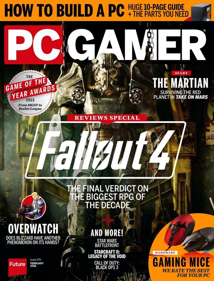PC Gamer Magazine 275. #Fallout4.