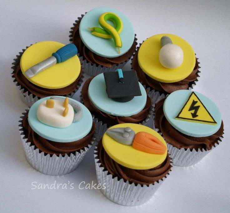 Electrician Cupcakes - maybe for Dad's birthday