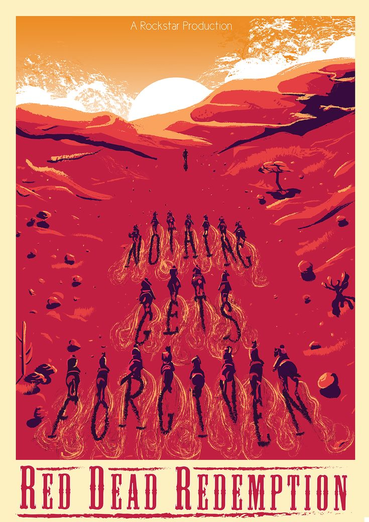 Fan Art Red Dead Redemption Poster by Kath Anderson - Rockstar Games