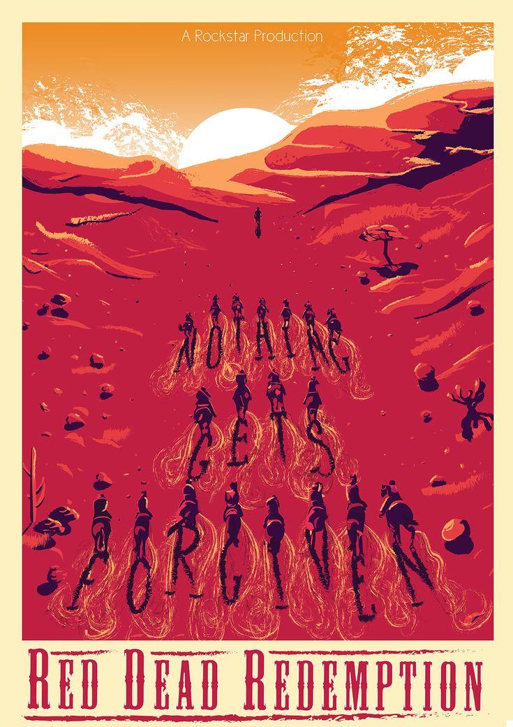 Fan Art Red Dead Redemption Poster by Kath Anderson - Rockstar Games