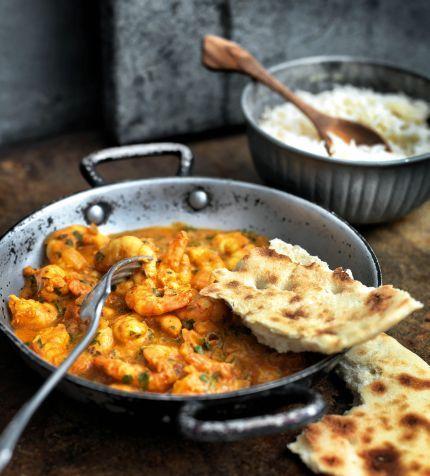 CURRY DE GAMBAS (Hot Punjabi King Prawn Curry)