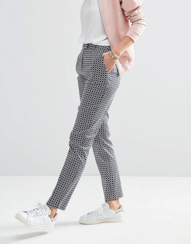 ASOS - Pantalon slim à imprimé motif géométrique