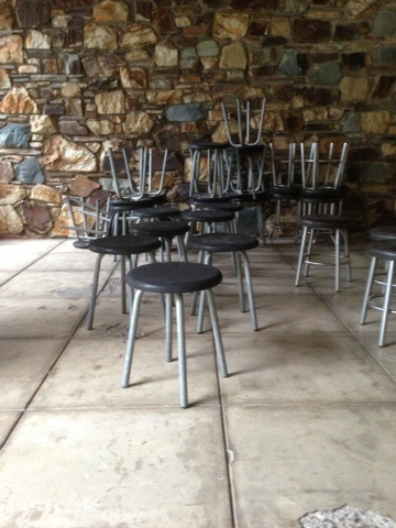 cafechairs: Available 10 UFO counter bar height stools Available 3 Tall 750mm.  Sold Tiny Bar Chairs  UFO small round #chairs.