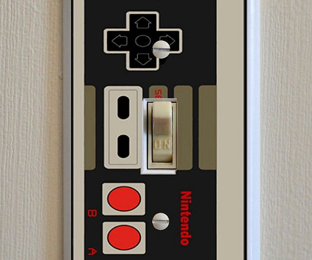 Give your game room a touch of nostalgia with help from this NES controller light switch plate. Designed to fit most standard switch plates, it's…
