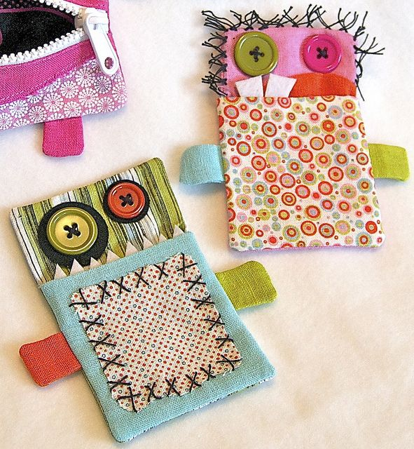 "Pocket monsters. As my daughter would say, ""adorbs!""    Gift Card Monsters by Happy Zombie, via Flickr"