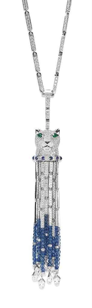 A MULTI-GEM PANTHER NECKLACE, BY CARTIER - Property of a Lady