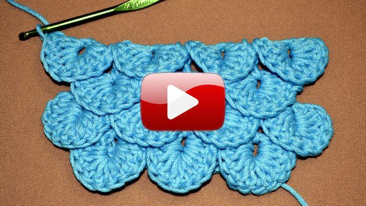 Punto Cocodrilo en tejido crochet